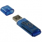 "Память Smart Buy ""Glossy"" 16GB, USB 2.0 Flash Drive, голубой"