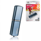 Флэш-диск SILICON POWER 8GB Luxmini 720 USB 2.0, алюмин корпус
